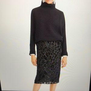 Jcrew NWT burnout leopard skirt
